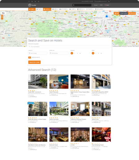 List Hotel – Full Map